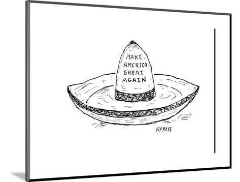 """Make America Great Again."" - Cartoon-David Sipress-Mounted Premium Giclee Print"