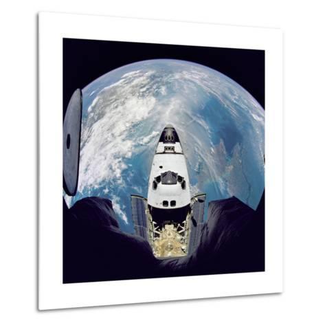 Space Shuttle Atlantis from Orbital Station Mir, June 29, 1995--Metal Print