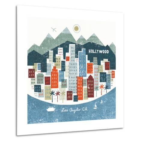 Colorful Los Angeles-Michael Mullan-Metal Print