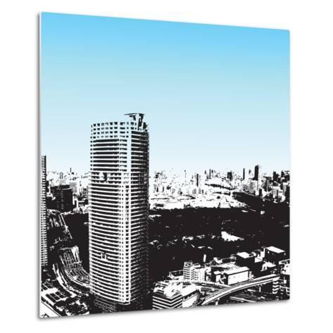 Grunge Style Skyscrapers-JENNY SOLOMON-Metal Print