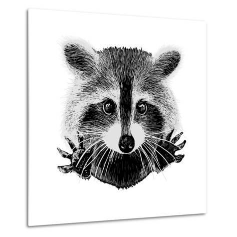 Hand Drawn Raccoon-LViktoria-Metal Print