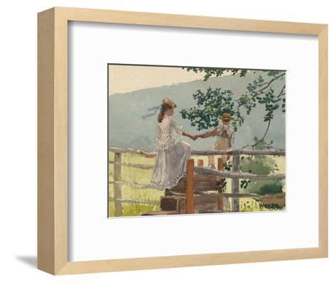 On the Stile, 1878-Winslow Homer-Framed Art Print