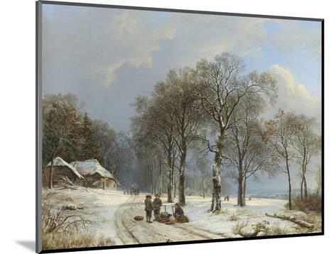 Winter Landscape, 1835-38-Barend Cornelis Koekkoek-Mounted Giclee Print