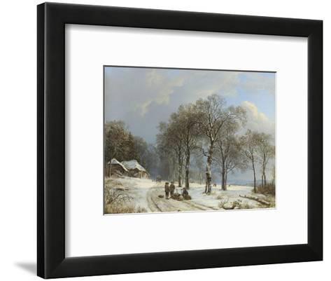 Winter Landscape, 1835-38-Barend Cornelis Koekkoek-Framed Art Print