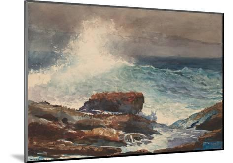 Incoming Tide, Scarboro, Maine, 1883-Winslow Homer-Mounted Giclee Print