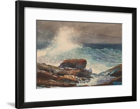 Incoming Tide, Scarboro, Maine, 1883-Winslow Homer-Framed Art Print