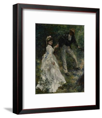 La Promenade, 1870-Pierre-Auguste Renoir-Framed Art Print