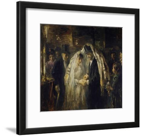 Jewish Wedding, 1903-Jozef Israels-Framed Art Print
