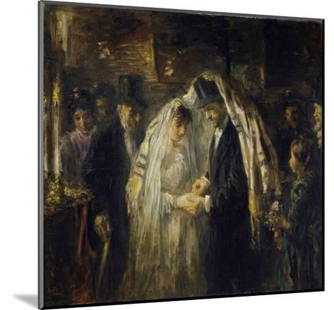Jewish Wedding, 1903-Jozef Israels-Mounted Giclee Print