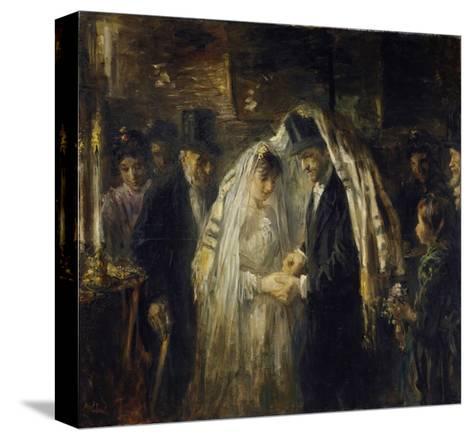 Jewish Wedding, 1903-Jozef Israels-Stretched Canvas Print