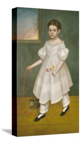 Girl with Kitten, 1836-38-Joseph Goodhue Chandler-Stretched Canvas Print