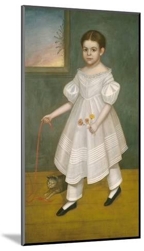 Girl with Kitten, 1836-38-Joseph Goodhue Chandler-Mounted Giclee Print