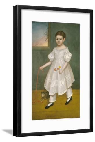 Girl with Kitten, 1836-38-Joseph Goodhue Chandler-Framed Art Print