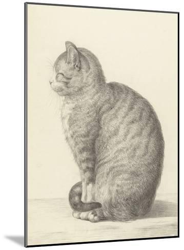 Sitting Cat, Facing Left, 1825-Jean Bernard-Mounted Giclee Print