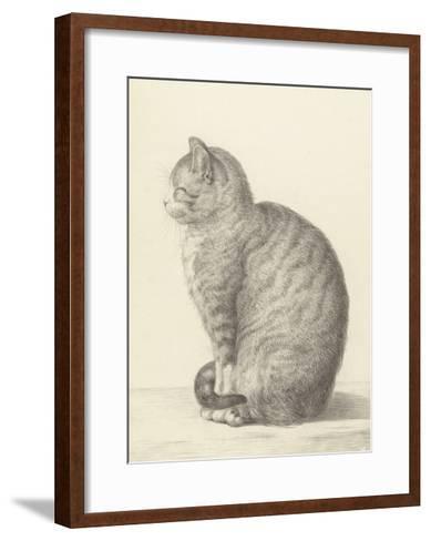 Sitting Cat, Facing Left, 1825-Jean Bernard-Framed Art Print