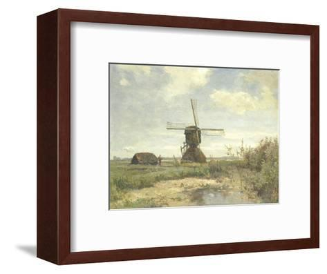 Sunny Day, a Mill to a Waterway, C. 1860-1903-Paul Joseph Constantin Gabriel-Framed Art Print