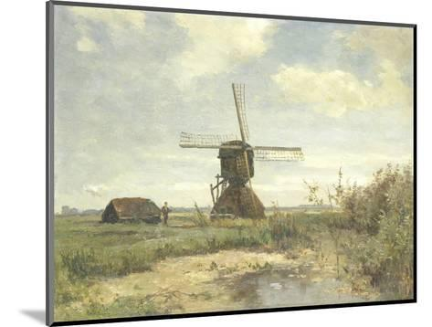 Sunny Day, a Mill to a Waterway, C. 1860-1903-Paul Joseph Constantin Gabriel-Mounted Giclee Print