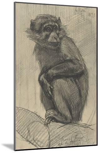 Monkey on a Branch, 1879-August Allebe-Mounted Giclee Print