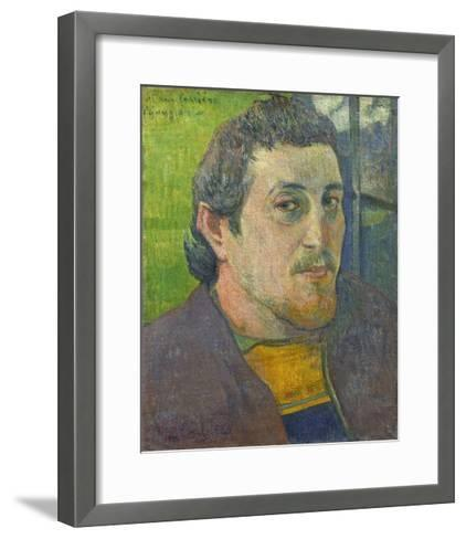 Self-Portrait Dedicated to Carriere, 1888-89-Paul Gauguin-Framed Art Print