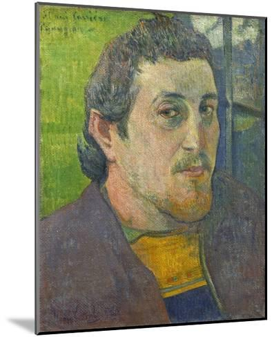 Self-Portrait Dedicated to Carriere, 1888-89-Paul Gauguin-Mounted Giclee Print