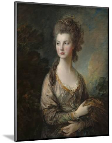 The Honorable Mrs. Thomas Graham, 1775-77-Thomas Gainsborough-Mounted Giclee Print