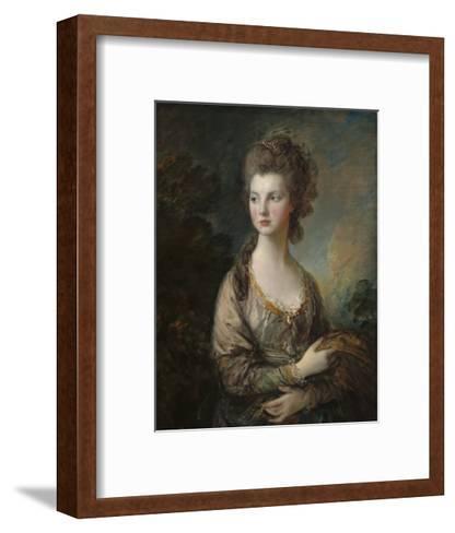 The Honorable Mrs. Thomas Graham, 1775-77-Thomas Gainsborough-Framed Art Print