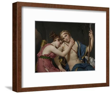 Farewell of Telemachus and Eucharis, 1818-Jacques-Louis David-Framed Art Print
