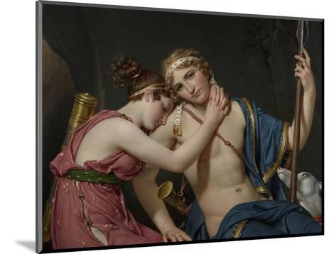 Farewell of Telemachus and Eucharis, 1818-Jacques-Louis David-Mounted Giclee Print