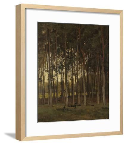 View in the Woods, C. 1870-1904-Theophile de Bock-Framed Art Print