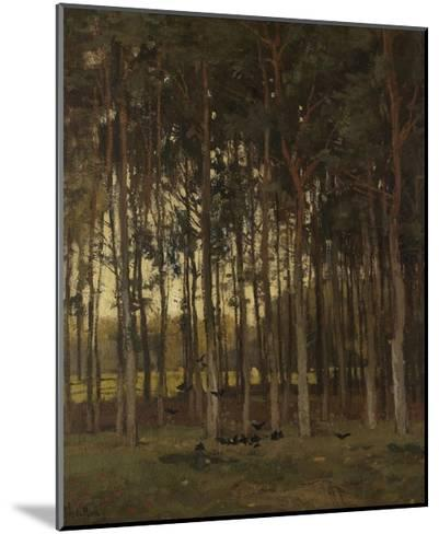 View in the Woods, C. 1870-1904-Theophile de Bock-Mounted Giclee Print