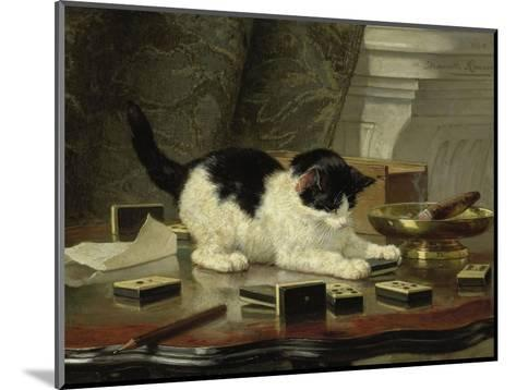 The Cat at Play, by Henriette Ronner, C. 1860-78, Belgian-Dutch Painting on Panel-Henriette Ronner-Mounted Giclee Print