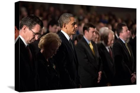 President Obama Attends a Sandy Hook Interfaith Vigil at Newtown High School in Newtown, Conn--Stretched Canvas Print