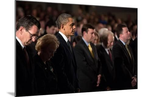 President Obama Attends a Sandy Hook Interfaith Vigil at Newtown High School in Newtown, Conn--Mounted Photo