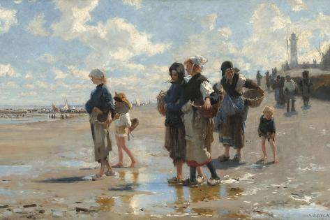 Setting Out to Fish, 1878-John Singer Sargent-Stretched Canvas Print