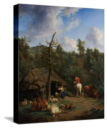 The Hut, 1671-Adriaen van de Velde-Stretched Canvas Print