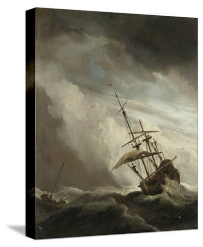 Ship on the High Seas Caught by a Squall, (The Gust), C. 1680-Willem van de Velde-Stretched Canvas Print