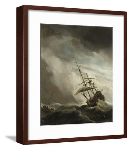 Ship on the High Seas Caught by a Squall, (The Gust), C. 1680-Willem van de Velde-Framed Art Print