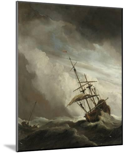 Ship on the High Seas Caught by a Squall, (The Gust), C. 1680-Willem van de Velde-Mounted Giclee Print