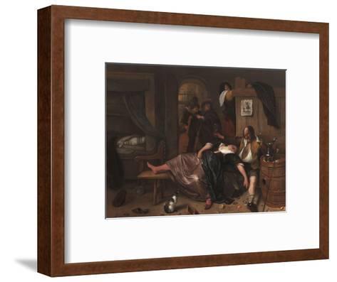 The Drunken Couple, 1655-Jan Steen-Framed Art Print