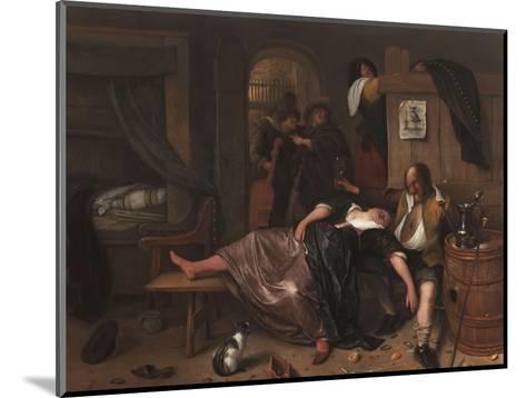 The Drunken Couple, 1655-Jan Steen-Mounted Giclee Print