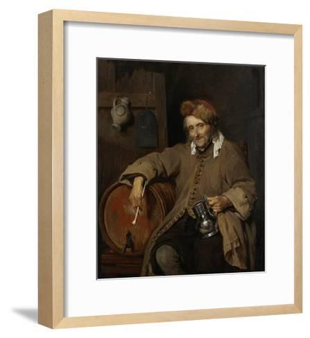 The Old Drinker, 1661-63-Gabriel Metsu-Framed Art Print