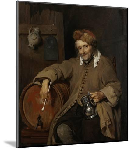 The Old Drinker, 1661-63-Gabriel Metsu-Mounted Giclee Print