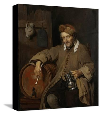 The Old Drinker, 1661-63-Gabriel Metsu-Stretched Canvas Print