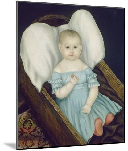 Baby in Wicker Basket, 1840-Joseph Whiting Stock-Mounted Giclee Print