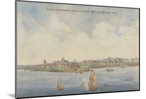 New Amsterdam, C. 1660--Mounted Giclee Print
