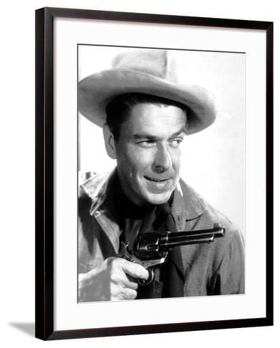 Cattle Queen of Montana, Ronald Reagan, 1954--Framed Art Print