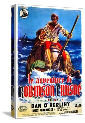 The Adventures of Robinson Crusoe, (AKA Le Avventure Di Robinson Crusoe), Italian Poster Art, 1954--Stretched Canvas Print