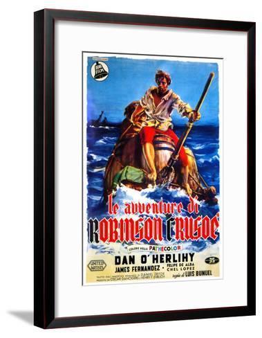 The Adventures of Robinson Crusoe, (AKA Le Avventure Di Robinson Crusoe), Italian Poster Art, 1954--Framed Art Print