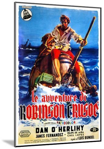 The Adventures of Robinson Crusoe, (AKA Le Avventure Di Robinson Crusoe), Italian Poster Art, 1954--Mounted Giclee Print