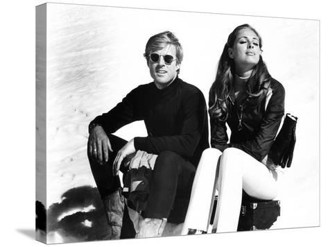 Downhill Racer, Robert Redford, Camilla Sparv, 1969--Stretched Canvas Print